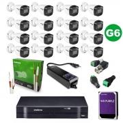 Kit CFTV 16 Câmeras VHD 1120 B G6 + MHDX 1116 HD 3TB + Itens