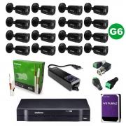 Kit CFTV 16 Câmeras VHD 1220 Black G6 +  MHDX 1116 C/ HD 2TB + Acessórios