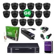 Kit CFTV 16 Câmeras VHD 1220 D Black G6 + MHDX 1116 C/HD 2TB + Acessórios