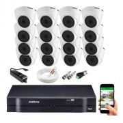 Kit CFTV 16 câmeras Vhl 1120 D + DVR 1116 S/ HD + Acessórios
