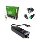 Kit Instalação CFTV Com Cabo