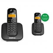 KIT TELEFONE INTELBRAS SEM FIO TS 3110 + 01 RAMAL TS 3111 PRETO