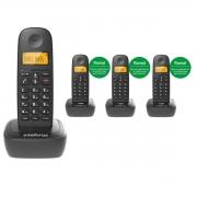 KIT TELEFONE  INTELBRAS TS 2510 + 03 RAMAL TS 2111