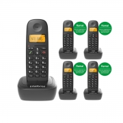 KIT TELEFONE  INTELBRAS TS 2510 + 04 RAMAL TS 2111