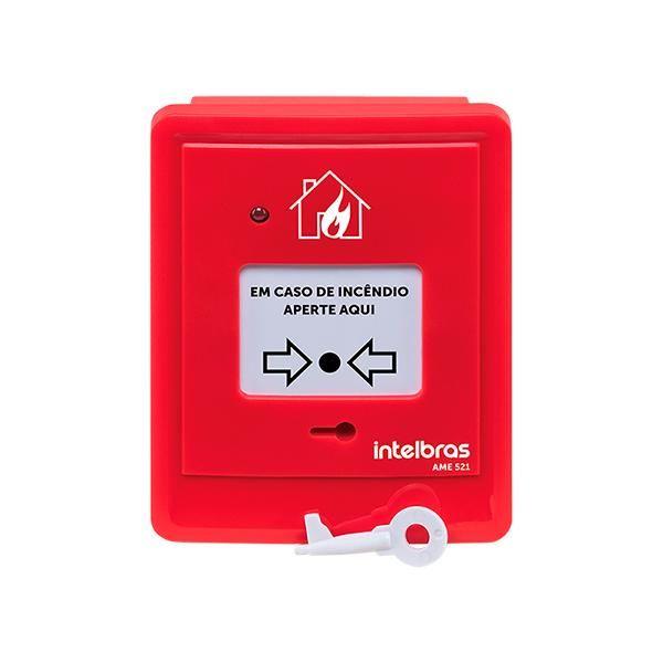 Acionador manual endereçavel sem sirene ame 521 - intelbras