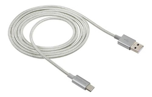 CABO USB INTELBRAS TYPE C 1,5M NYLON BRANCO EUAC15NB