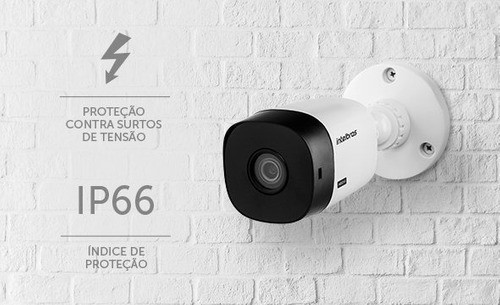 Câmera Bullet Intelbras Vhd 1420 B 4 Megapixel 20 Metros Lente 3.6 Mm 80º
