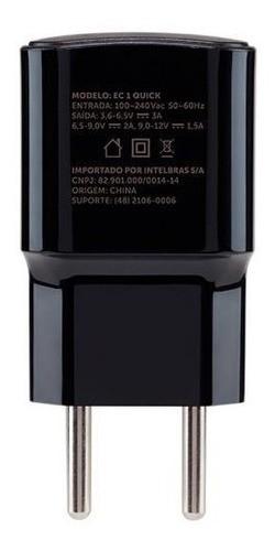 CARREGADOR USB INTELBRAS FONTE EC1 USB QUICK PRETO