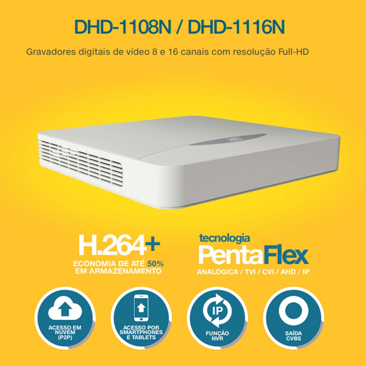 DVR STAND ALONE DHD 1116N  16CH 02050045 - JFL