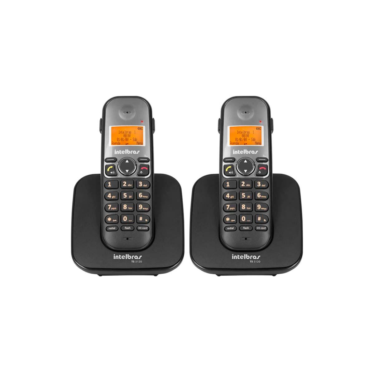 Kit 02 Telefone Sem Fio Intelbras Ts 5120