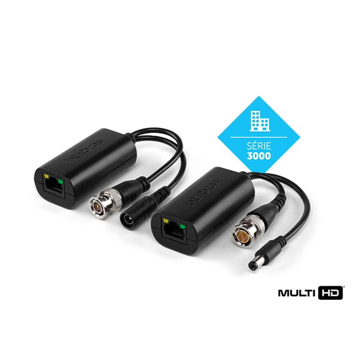 Kit 03 Conversor De Vídeo Power Balun Intelbras Vb 3001 Wp