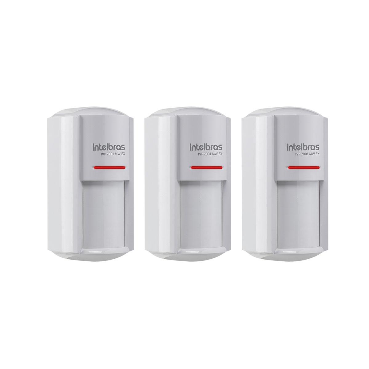 Kit 03 Sensor Externo Com Fio Intelbras Ivp 7001 Mw Ex