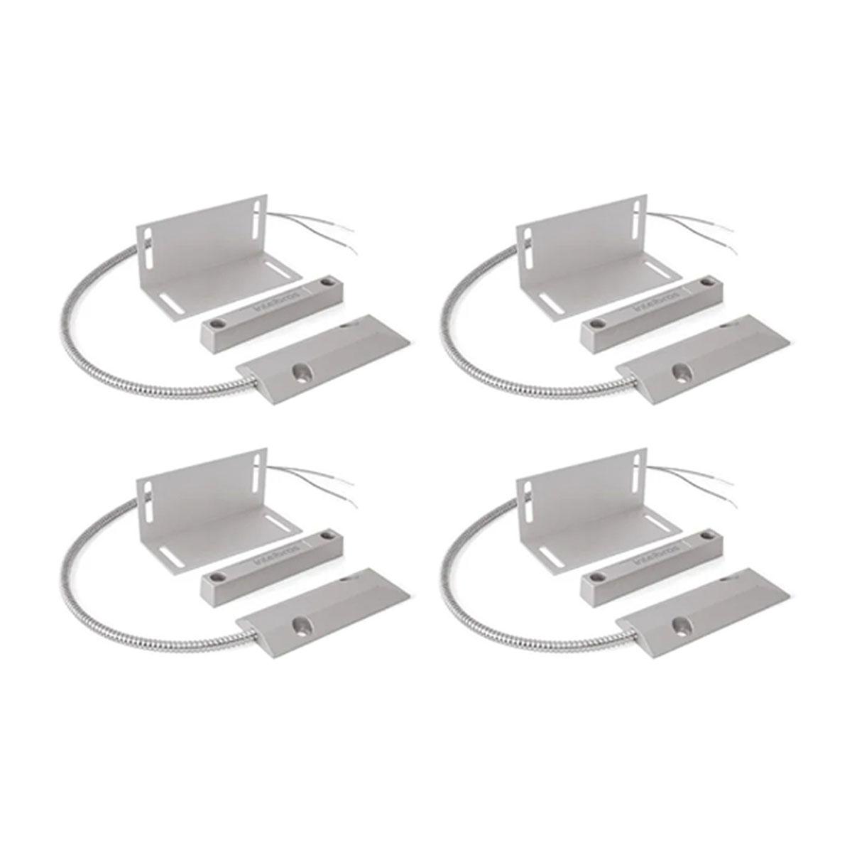 Kit 04 Sensor Magnético Com Fio Intelbras Xas Porta Aço