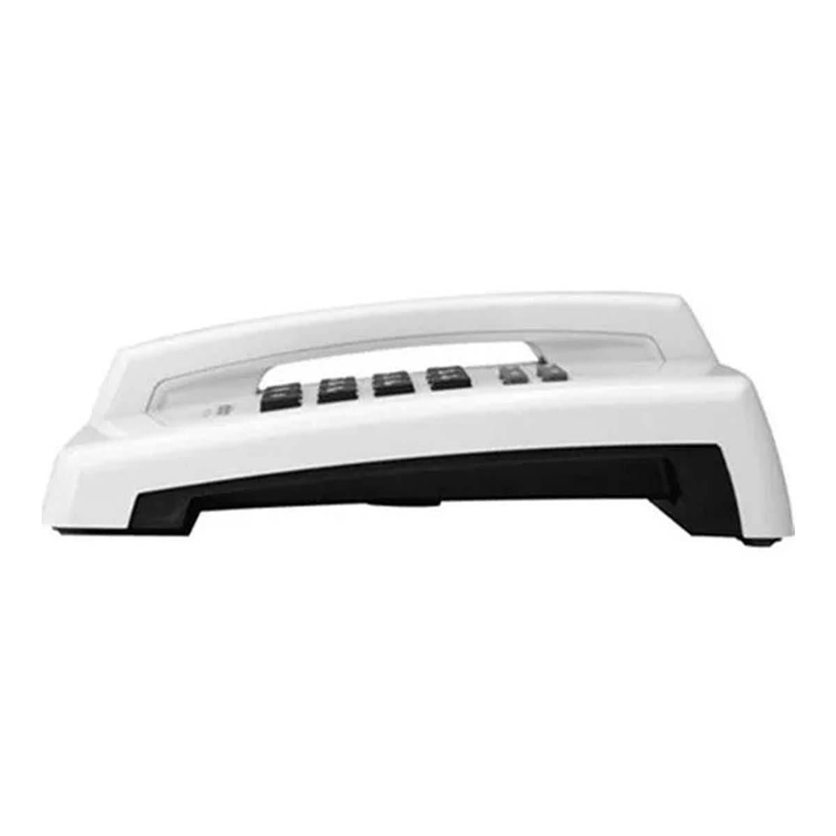 Kit 05 Telefone De Mesa Intelbras Tc50 Premium Branco