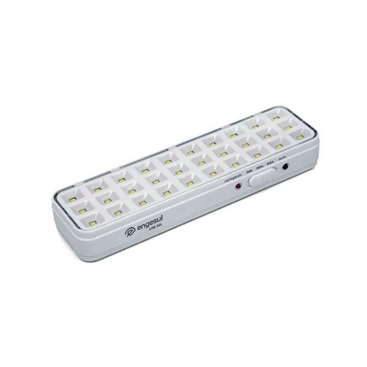 Kit 07 Luminária De Emergência Autonoma 30 Leds Lde 30l