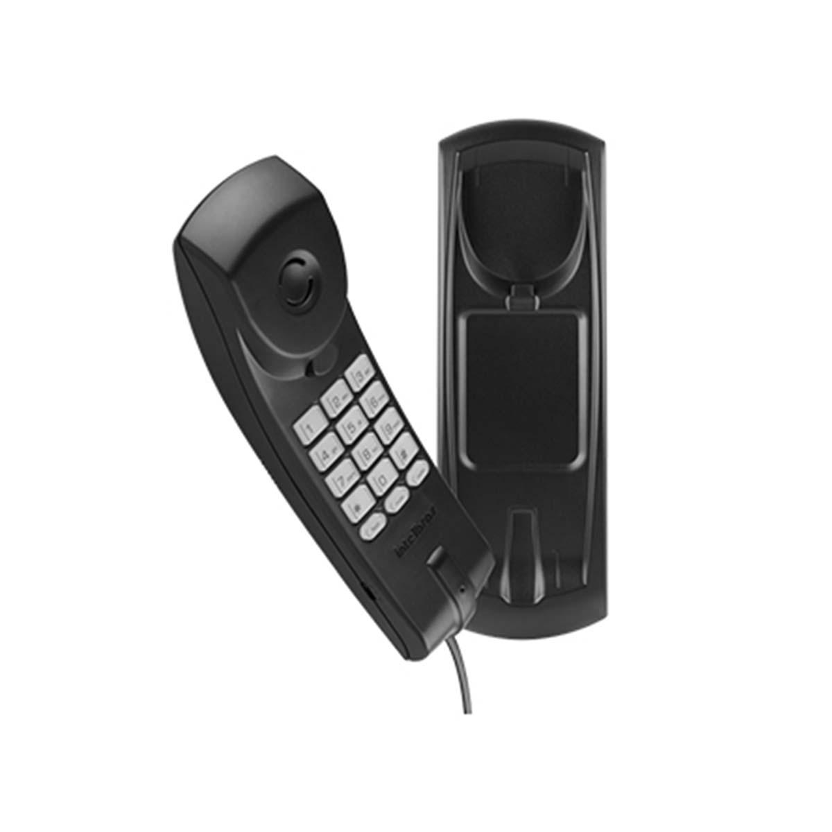 Kit 07 Telefone Intelbras Com Fio Gondola Tc20 Preto
