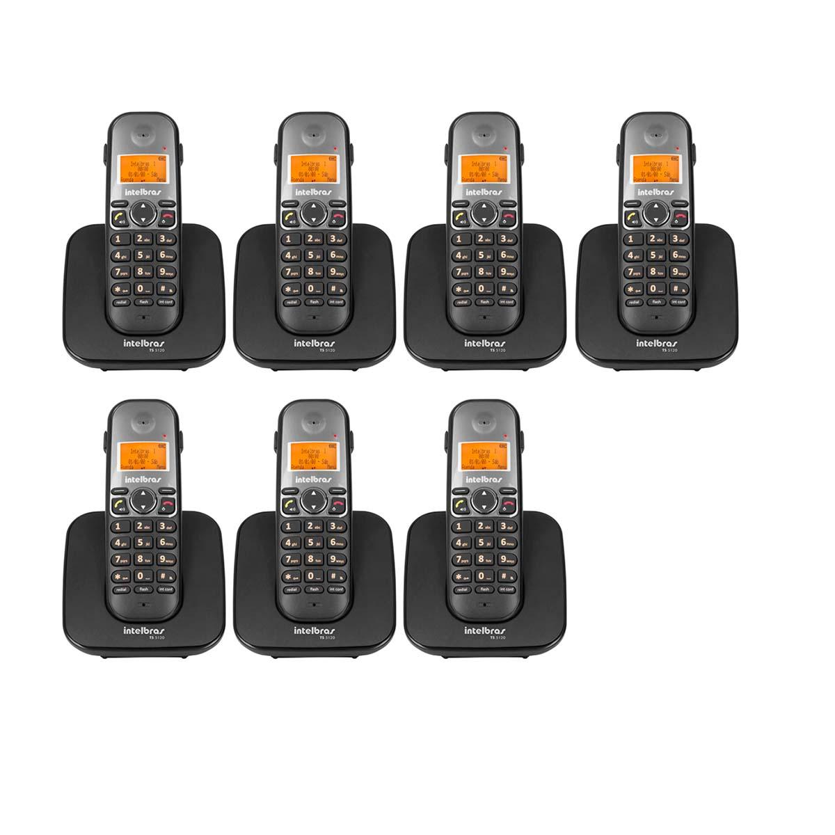 Kit 07 Telefone Sem Fio Intelbras Ts 5120