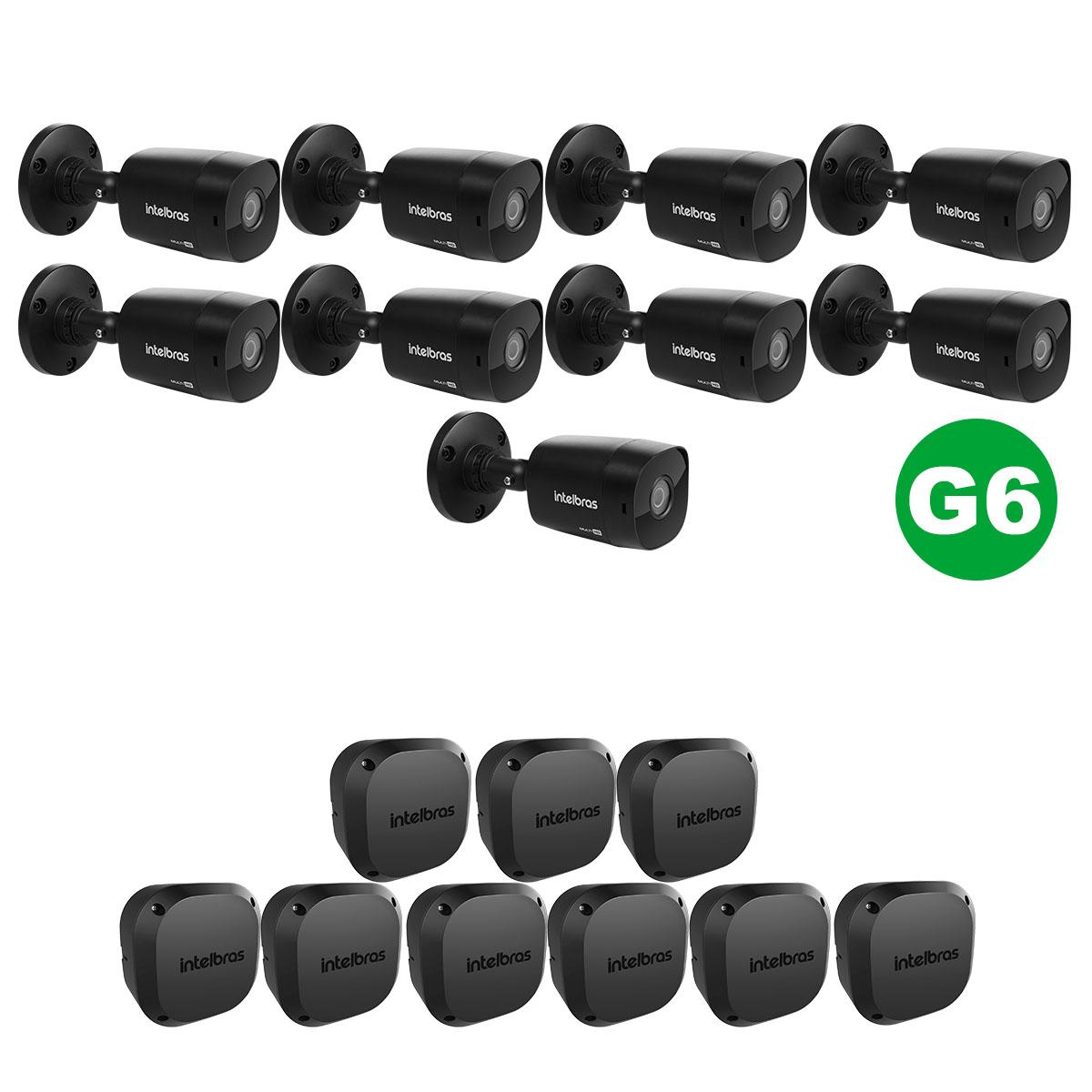 KIT 09 Câmera VHD 1220 Black G6 1080p 3,6m + Vbox 1100 E