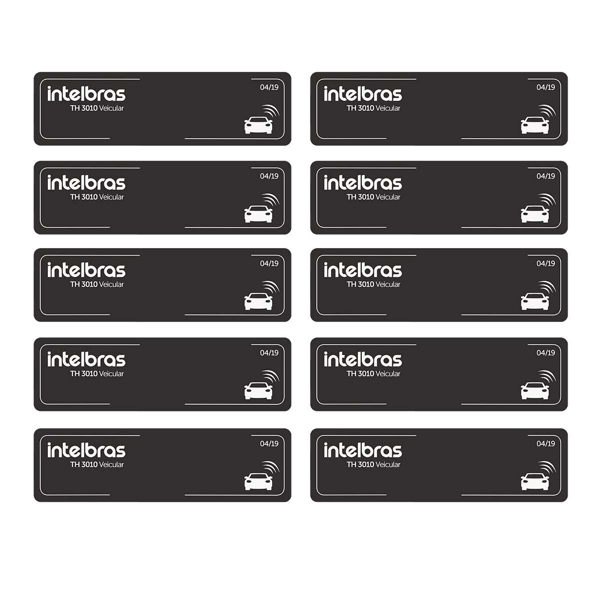 Kit 10 Etiqueta Veicular Intelbras Rfid 900mhz Th 3010