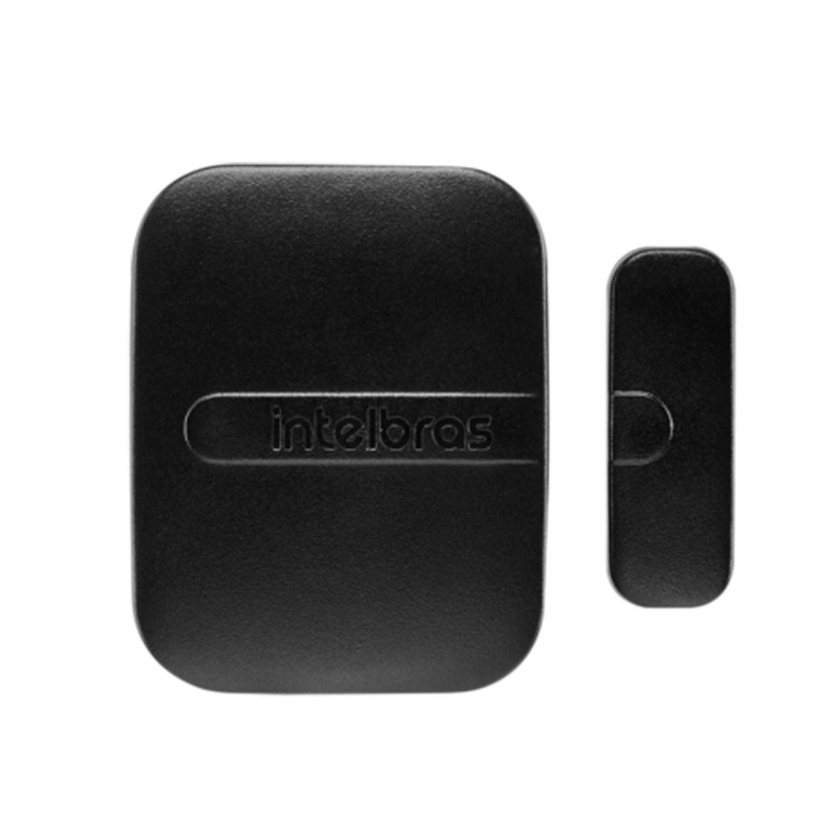 Kit 10 Sensor Magnético Intelbras Sem Fio Xas Smart Black