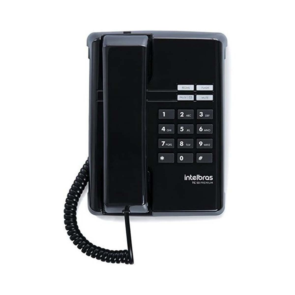 Kit 10 Telefone De Mesa Intelbras Tc50 Premium Preto