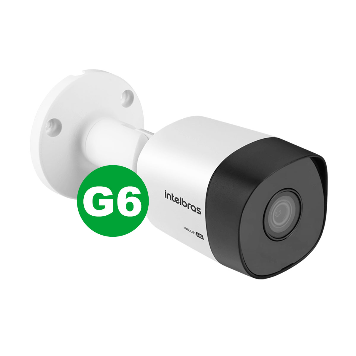 Kit Câmera Bullet Intelbras Vhd 3130 B G6 3,6mm + Acessórios