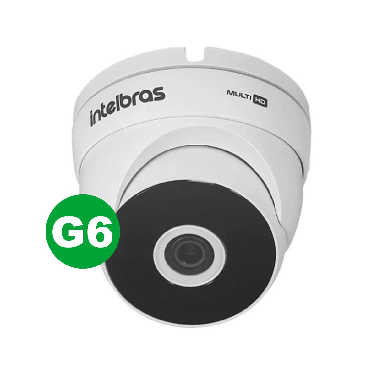Kit Câmera Dome Intelbras Vhd 3120 D G6 3.6mm + Acessórios