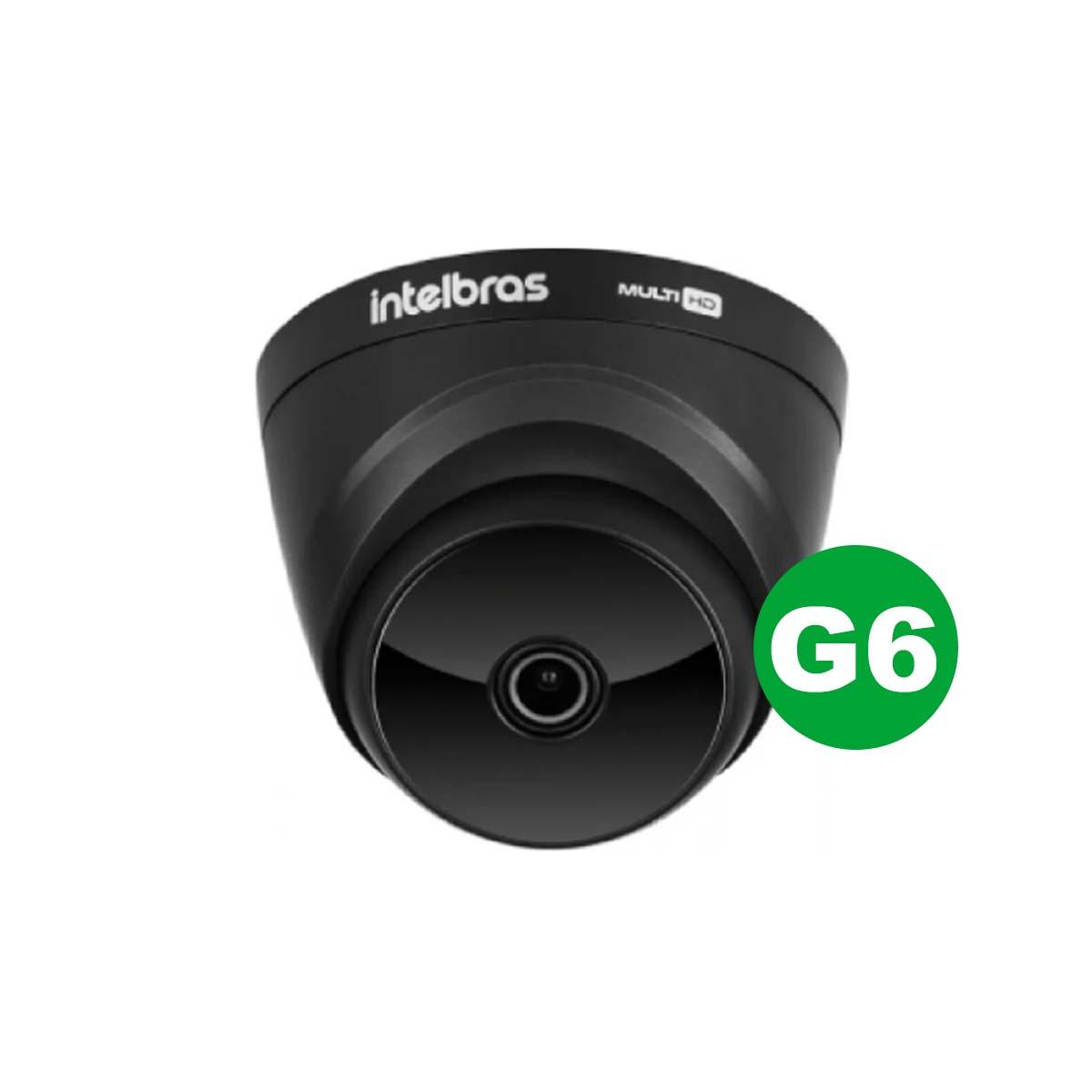 Kit CFTV 02 Câmeras VHD 1220 D Black G6 + MHDX 1108 C/ HD 2TB + Acessórios