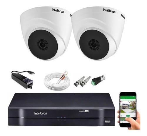 Kit CFTV 02 câmeras Vhl 1120 D + DVR 1104 S/ HD + Acessórios