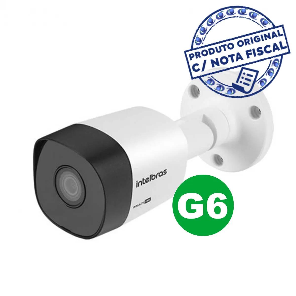 Kit CFTV 02 câmeras Vhd 3120 B  G6 + DVR 1104 C/ HD 1TB Cabo de Brinde