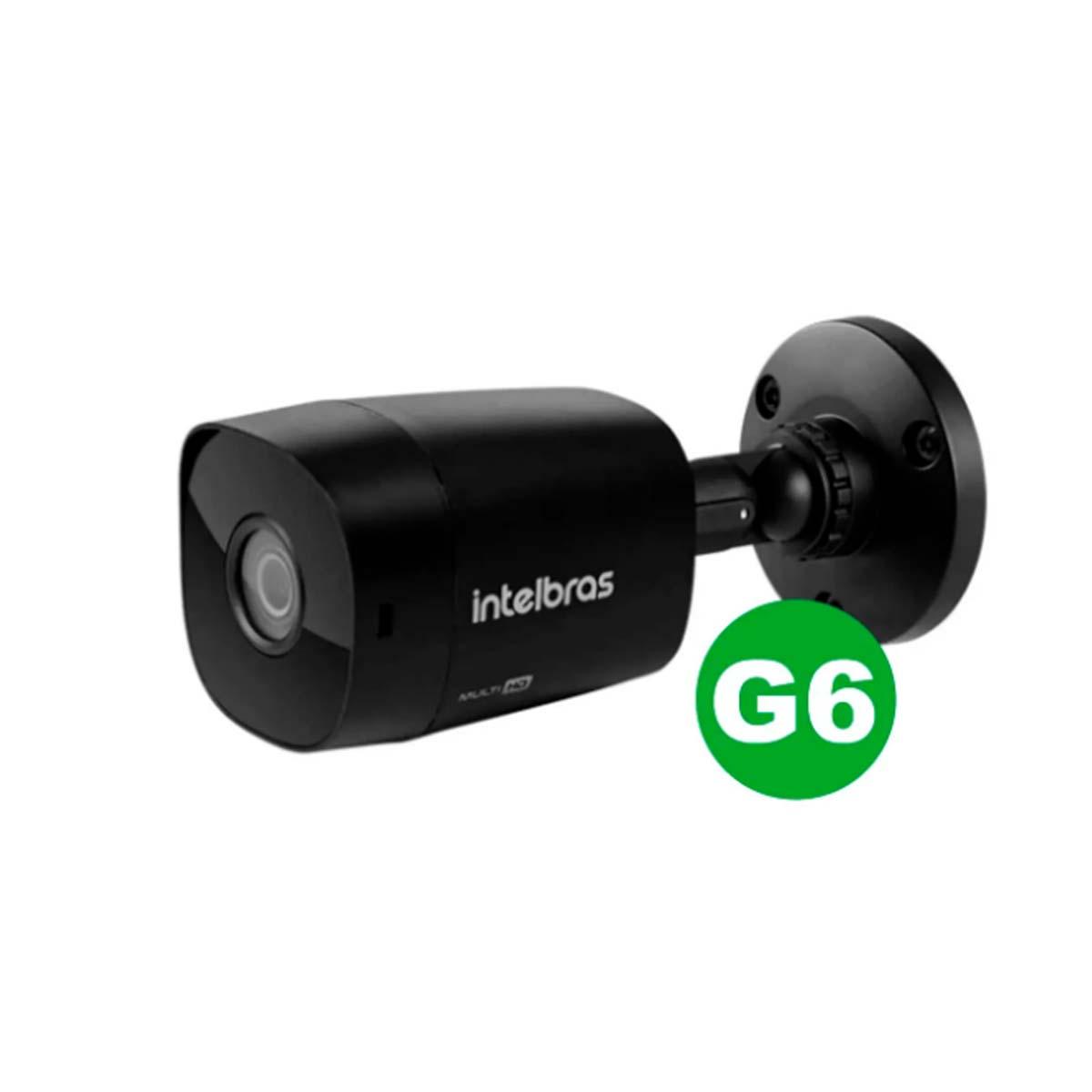 Kit CFTV 04 Câmeras VHD 1220 Black G6 +  MHDX 1108 C/ HD 1TB + Acessórios