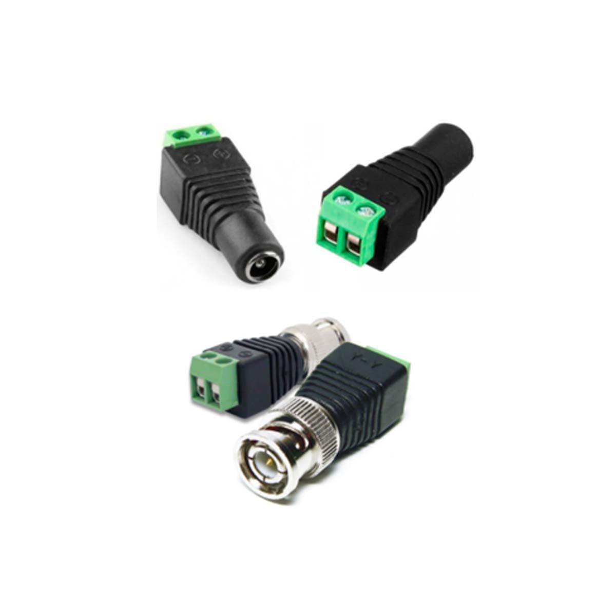 Kit CFTV 04 Câmeras VHD 1220 D Black G6 + MHDX 1104 C/ HD 2TB + Acessórios