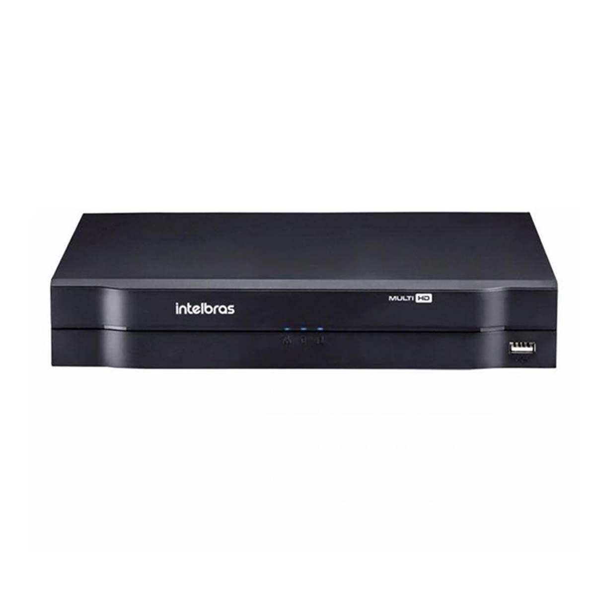 Kit CFTV 04 Câmeras VHD 1220 D Black G6 + MHDX 1104 S/ HD + Acessórios