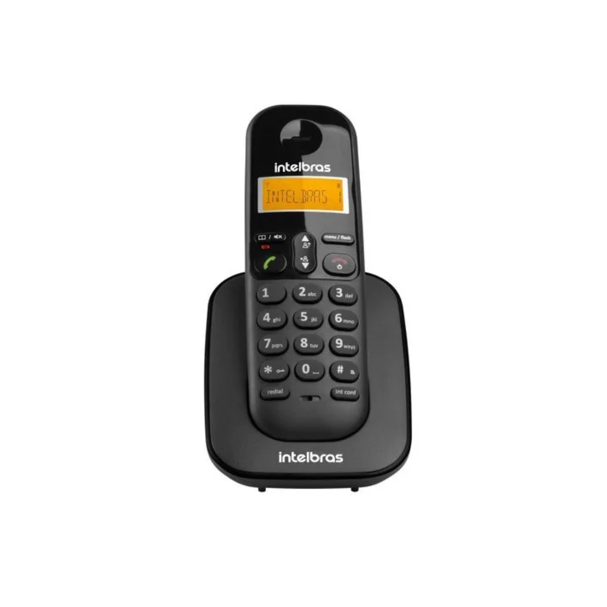 KIT TELEFONE INTELBRAS SEM FIO TS 3110 + 05 RAMAL TS 3111 PRETO