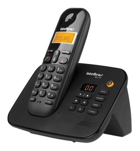 KIT TELEFONE INTELBRAS SEM FIO TS 3130 + 05 RAMAL TS 3111 PRETO