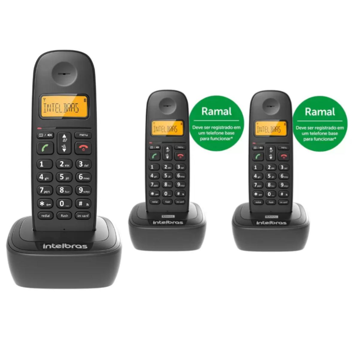 KIT TELEFONE  INTELBRAS TS 2510 + 02 RAMAL TS 2111