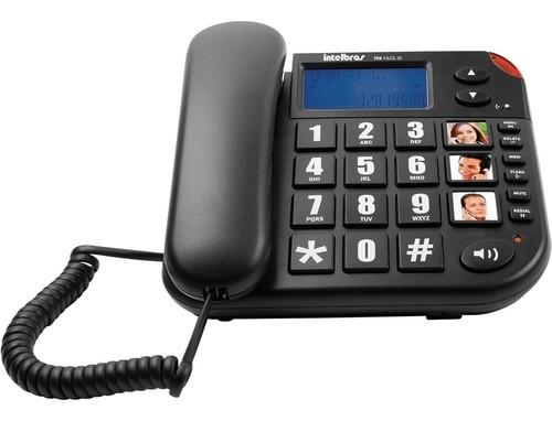 TELEFONE COM FIO INTELBRAS TOK FACIL ID