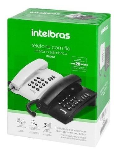 TELEFONE DE MESA INTELBRAS PLENO PRETO 100MS