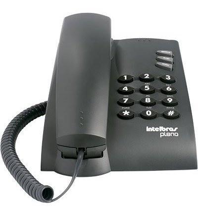 TELEFONE DE MESA INTELBRAS PLENO PRETO COM CHAVE
