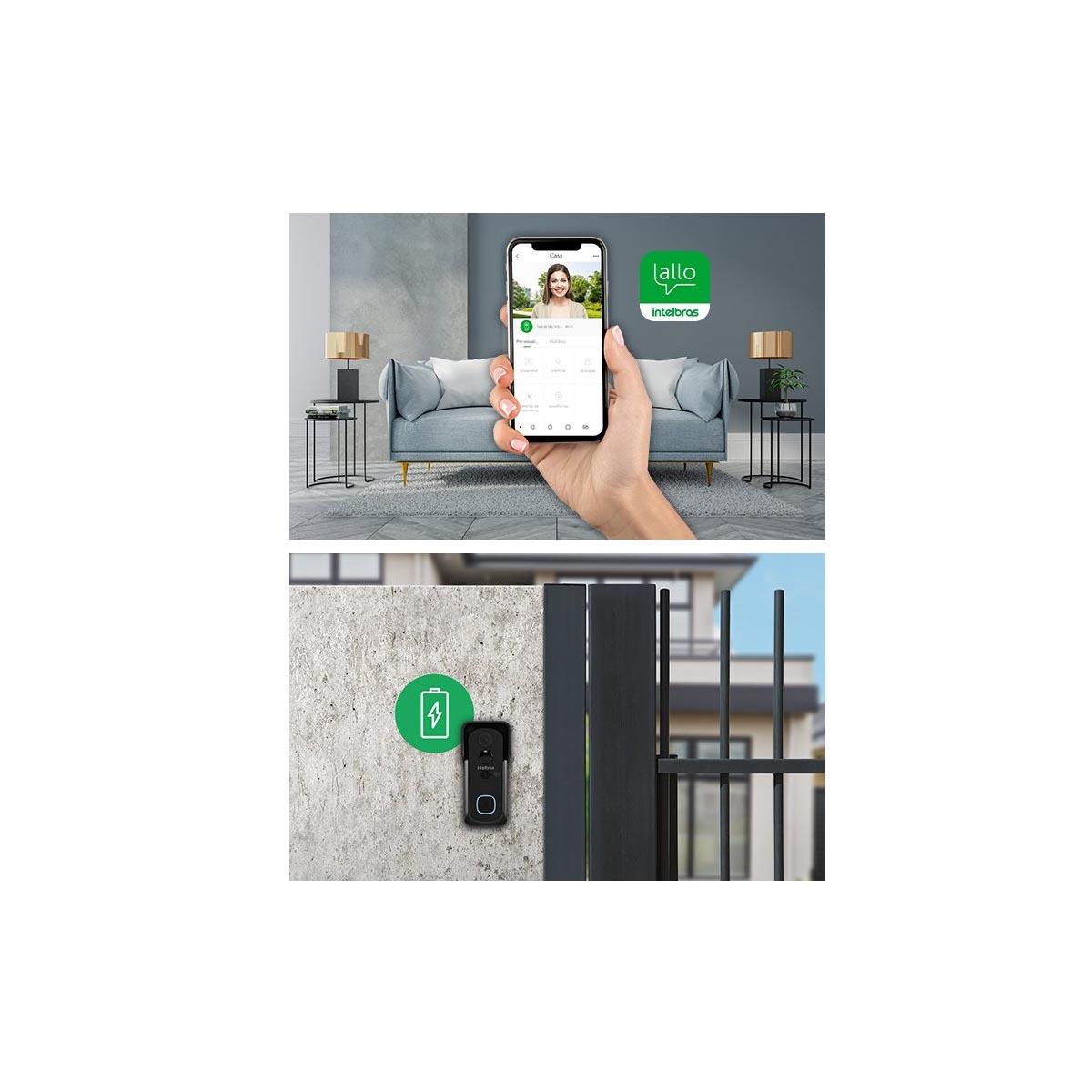 Video Porteiro Wi-Fi Intelbras Allo W5