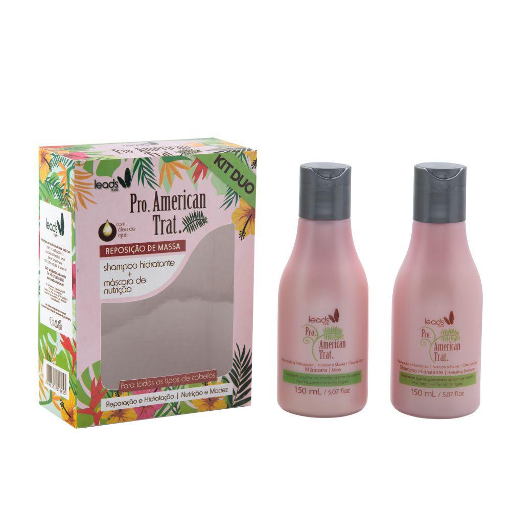 Kit Duo Pro American Trat Shampoo Hidratante e Máscara de Nutrição - 150ml