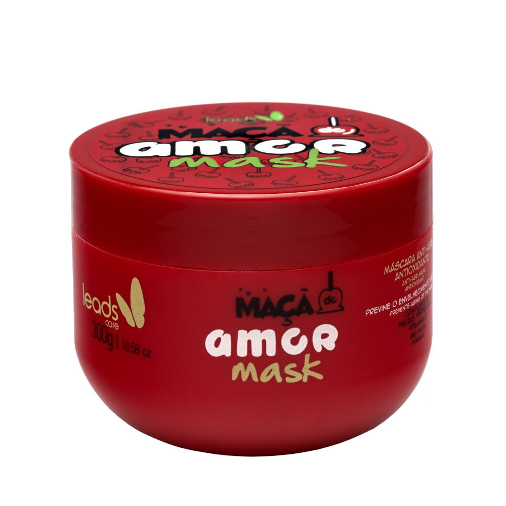 Máscara Anti-Age Antioxidante Maçã do Amor Mask  - www.lojaleadscare.com.br