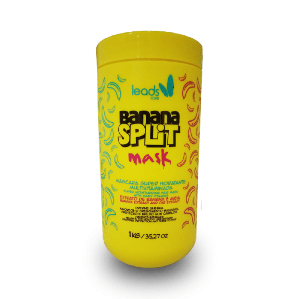 Máscara de Nutrição Banana Split Mask Leads Care - 1kg