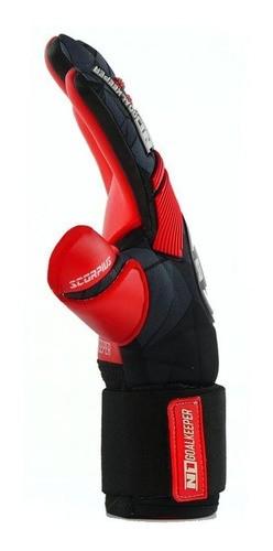 Luva de Goleiro Profissional N1 Scorpius Red