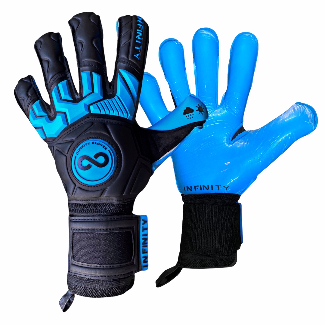 Luva Goleiro Profissional Infinity Pro Max BLACK BLUE