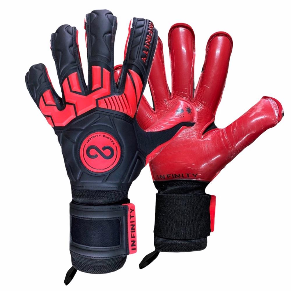 Luva Goleiro Profissional Infinity Pro Max BLACK RED