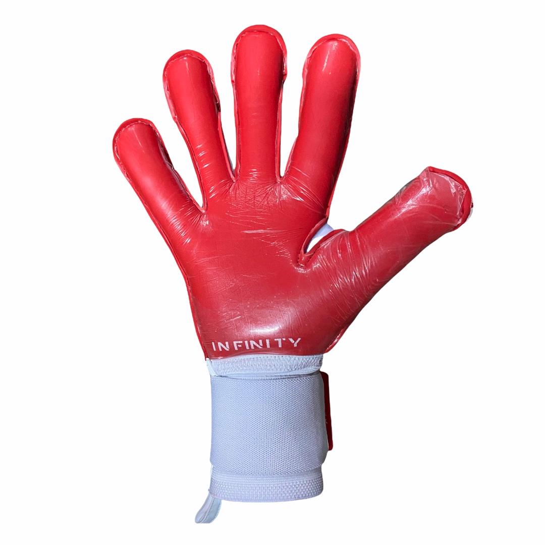 Luva Goleiro Profissional Infinity Pro Max WHITE RED