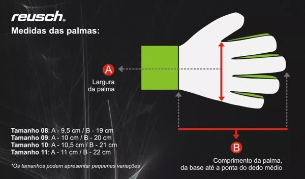 LUVA GOLEIRO REUSCH PURE CONTACT PRIME G3 FUSION
