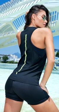 Camiseta Fitness Preto Sport