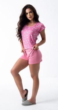 Pijama Curto ClickModa Ovelinha Rosa